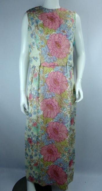 Vintage 1960s Best & Co. Floral Two Piece Dress