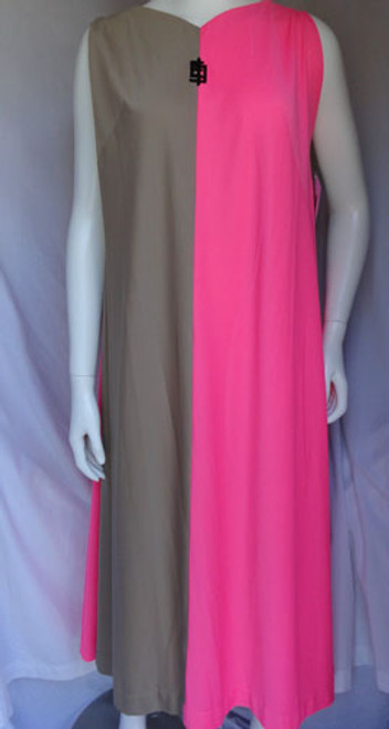 Emilio Pucci 1960s Hot Pink and Tan Caftan