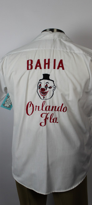 Vintage 1970s Embroidered Personalized Shriner Clown Shirt