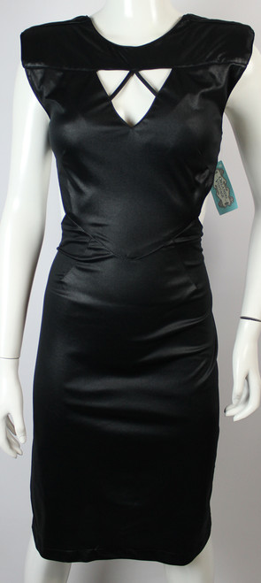 Vintage 1980s Diamonds Run Backless Dress