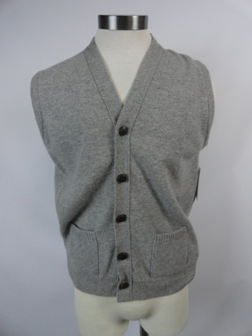 "Men's Vintage 60's ""Lord Jeff"" Lambs Wool Sweater Vest"