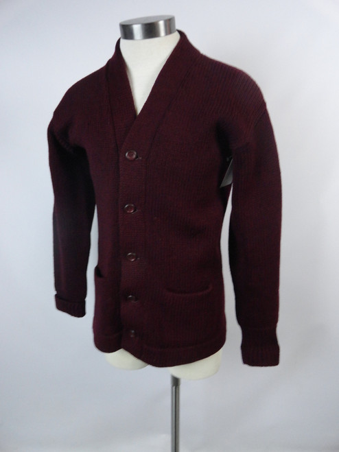 "Men's Vintage 50's ""Marq't Knit"" Burgundy Sweater"