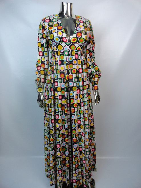 Vintage 1970's Multi-Colored Circle Jumpsuit SOLD