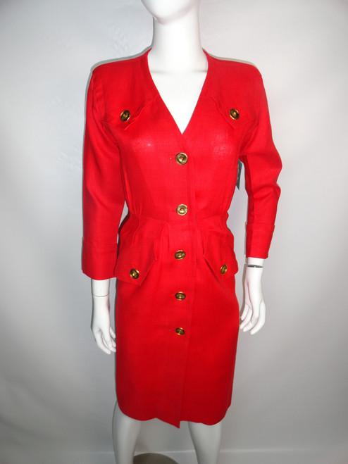 "Vintage 80's ""YSL"" Linen Power Dress SOLD"
