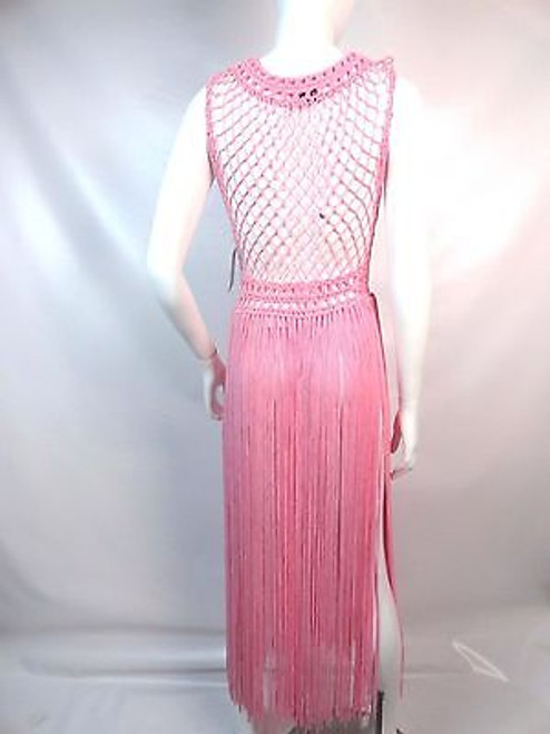 """dc38f1017be8c ... Vintage 60's/70's """"Neiman Marcus"""" Pink Crochet Swim Cover Up SOLD ..."""
