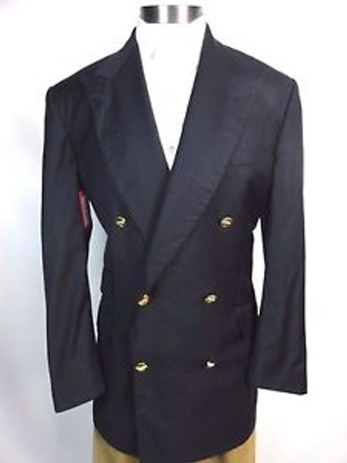 "Vintage 80's ""Turnbull and Asser at Bergdorf Goodman"" Double Breasted Jacket"