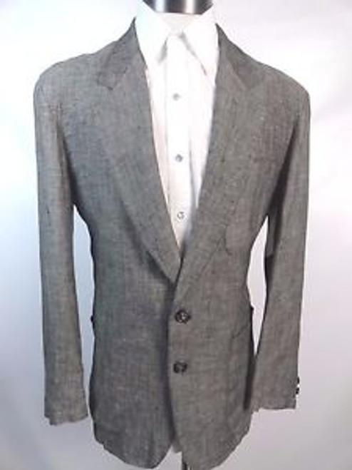 "Vintage 80's ""Summer by Nervesa"" Grey Linen Summer Jacket"