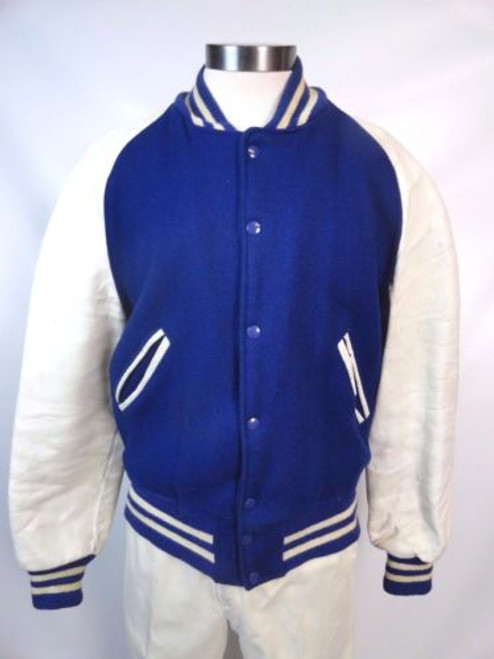 Vintage 50's Wool and Leather Letterman Jacket