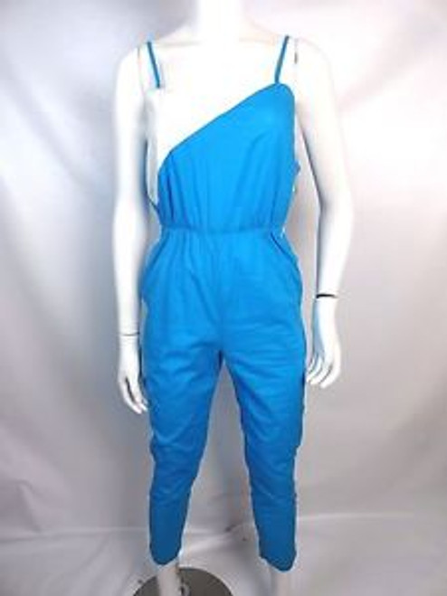 Vintage 80's Blue and White Jumpsuit