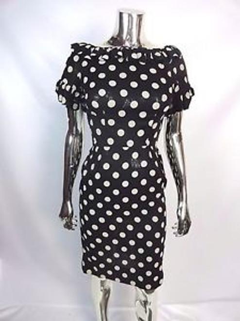 "Vintage 50's ""Sandra Sage"" Polka Dot Ruffle Dress SOLD"