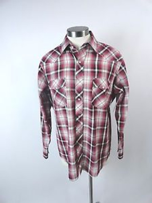 "Vintage 70's ""Wrangler"" Red Plaid Western Shirt SOLD"