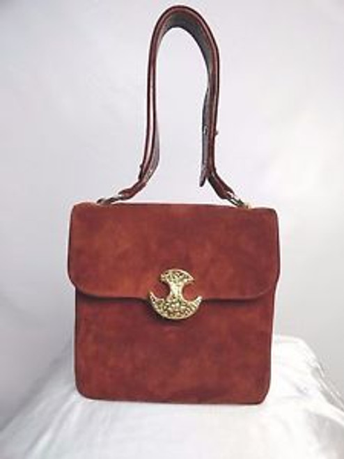 "a3be1a112983 Vintage 70 s Rust Suede ""Varon"" Shoulder Bag - Orlando Vintage ..."