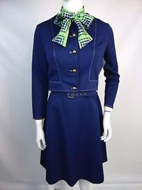 Vintage 70's Polyester Suit Dress