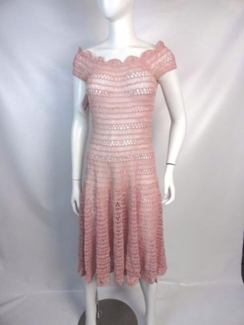 Vintage 50's Pink/ Silver Crochet Dress SOLD