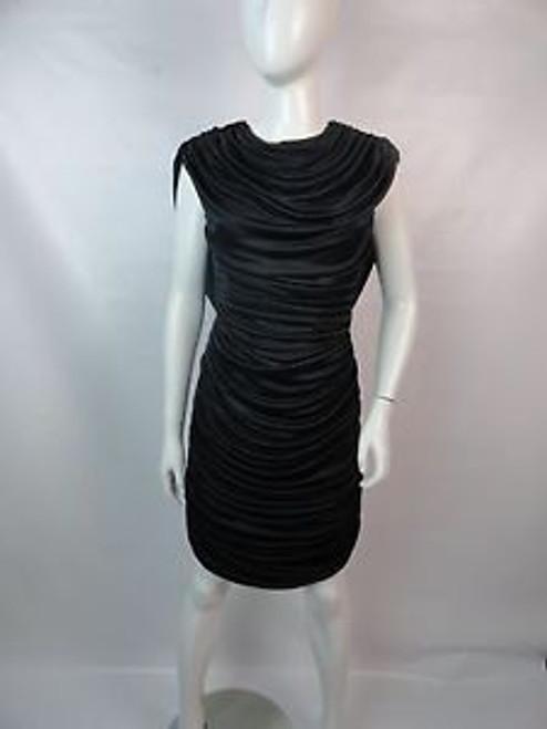 "Vintage 80's ""Gilberti"" Ruched Drape Back Dress"