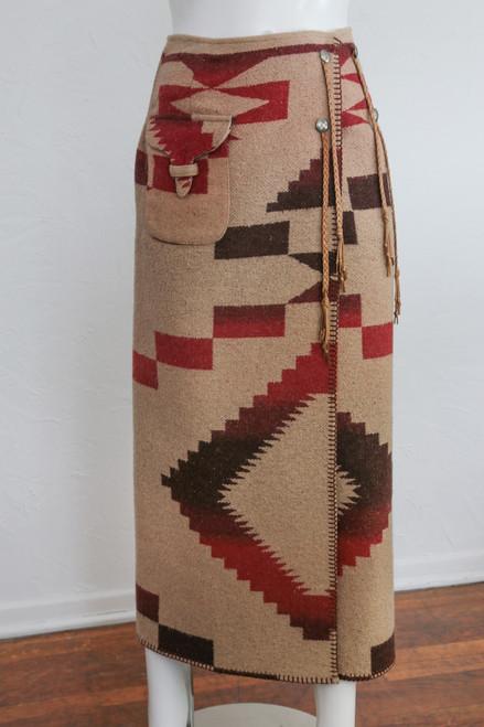 ON SALE Ralph Lauren Southwestern Style Heavy Wrap Skirt