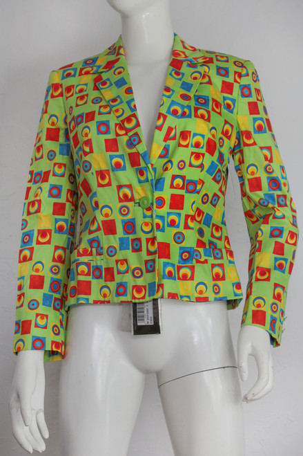 """Versus Gianni Versace"" Cube Patterned Blazer"