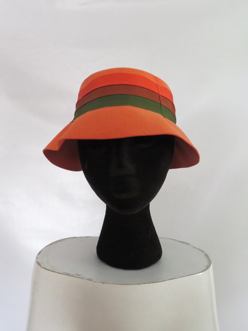 Macy's Orange Felt Bucket Hat