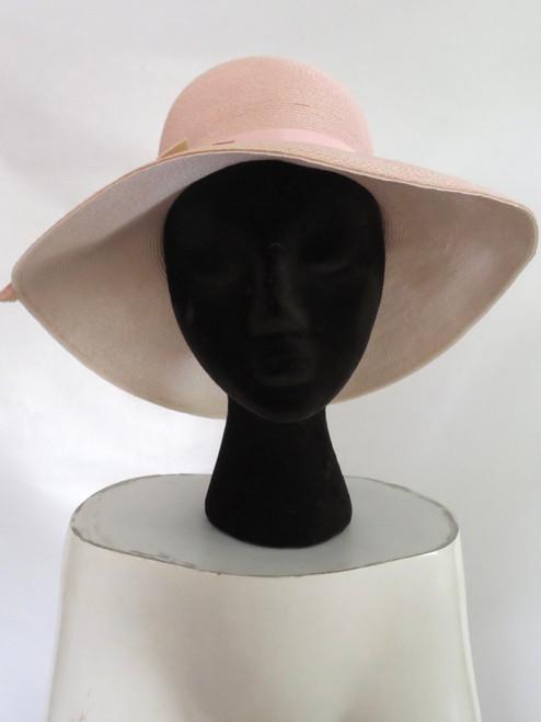 1960's Lecia Pale Pink Wide Brim Hat