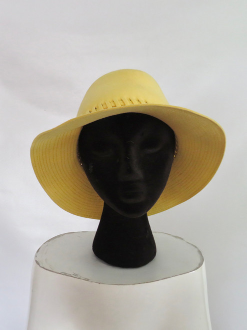 Yellow Big Brimmed Wool Hat