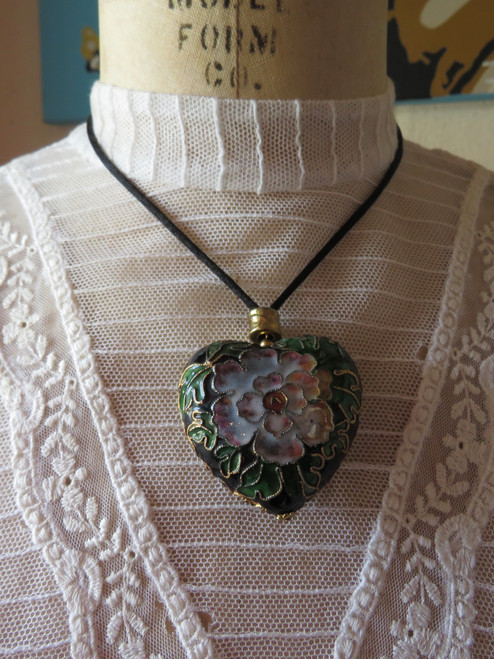 SOLD Floral Heart Necklace