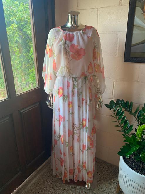 """""""Ruth Chagnon"""" Chiffon Poppy Hostess Dress"""