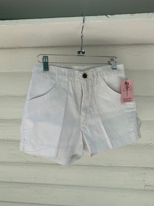 """""""Dee Cee"""" White Painters Shorts"""
