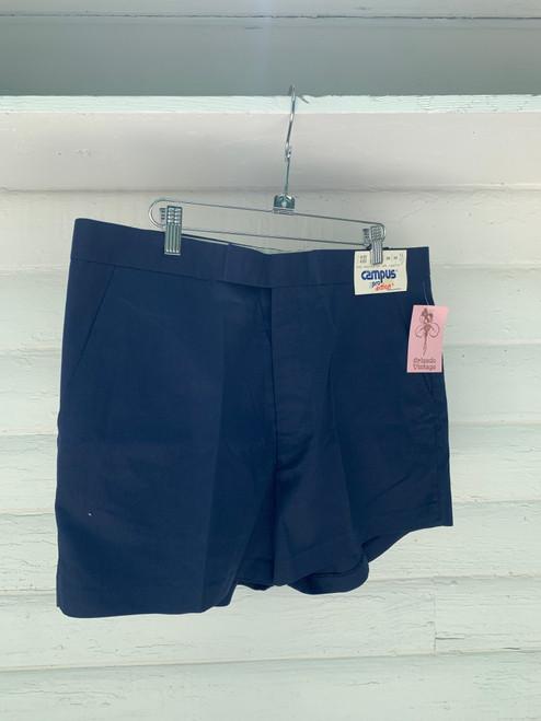 """Campus"" Navy Slack Shorts"