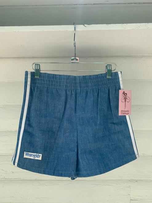 """""""Wrangler"""" Light Wash Denim Shorts w/ White Stripes on Side"""
