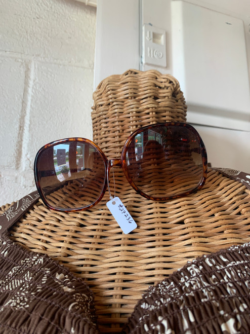Brown Spotted Frame Glasses