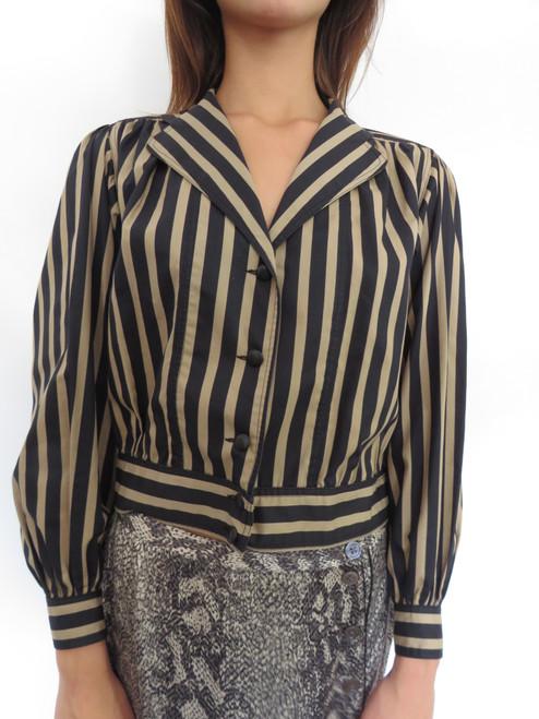 """""""DeJue Paris"""" Blak&Gold Striped Blazer"""
