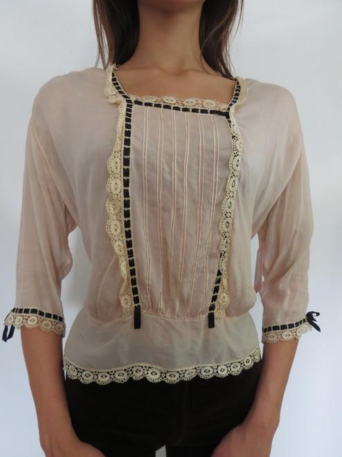 SOLD Victorian Silk Blouse