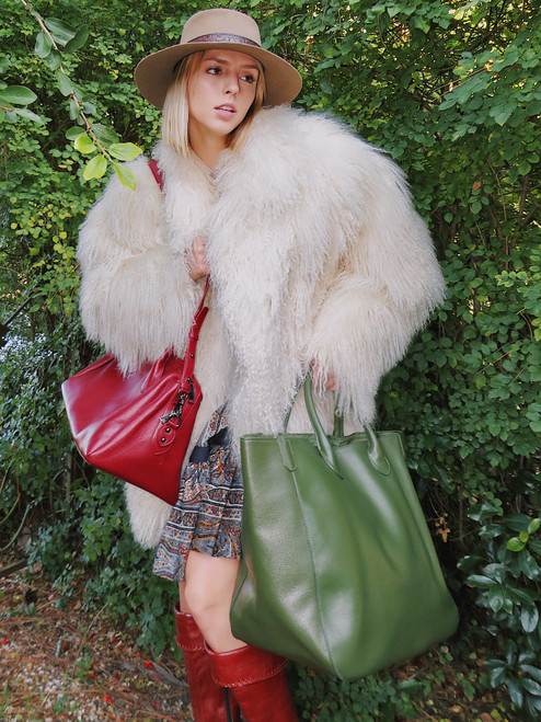 """""""Beck Bags"""" Fern Large Classic Tote"""