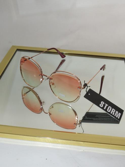 """Storm"" Deipyle Circle Frame Sunglasses"