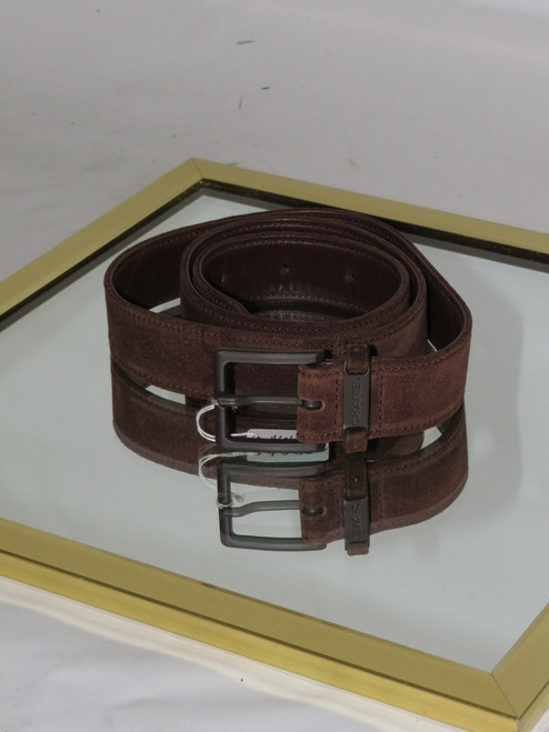 """""""Chanel"""" Brown Suede Belt in Box"""