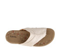 TAOS - GIFT 2  SANDAL -PEARL WHITE LEATHER