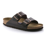 Birkenstock - Arizona Sandal - Soft Footbed - Brown Amalfi Leather