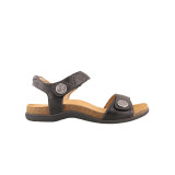 Taos - Pioneer Sandal - Black Leather