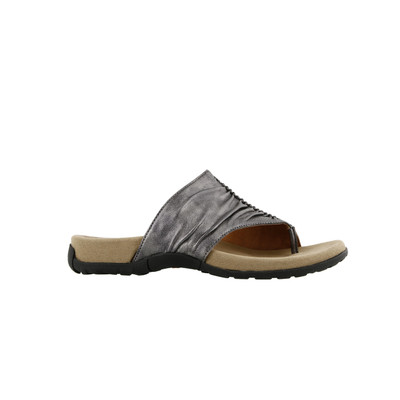 TAOS - GIFT 2  SANDAL - PEWTER LEATHER