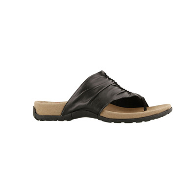 TAOS - GIFT 2  SANDAL - BLACK LEATHER