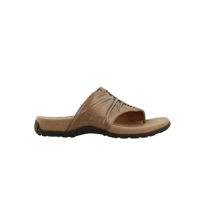 TAOS - GIFT 2  SANDAL -COCOA METALLIC LEATHER