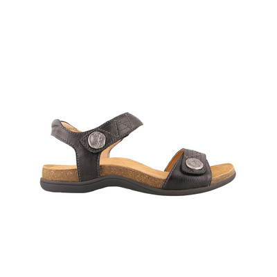 TAOS - PIONEER SANDAL - BLACK LEATHER