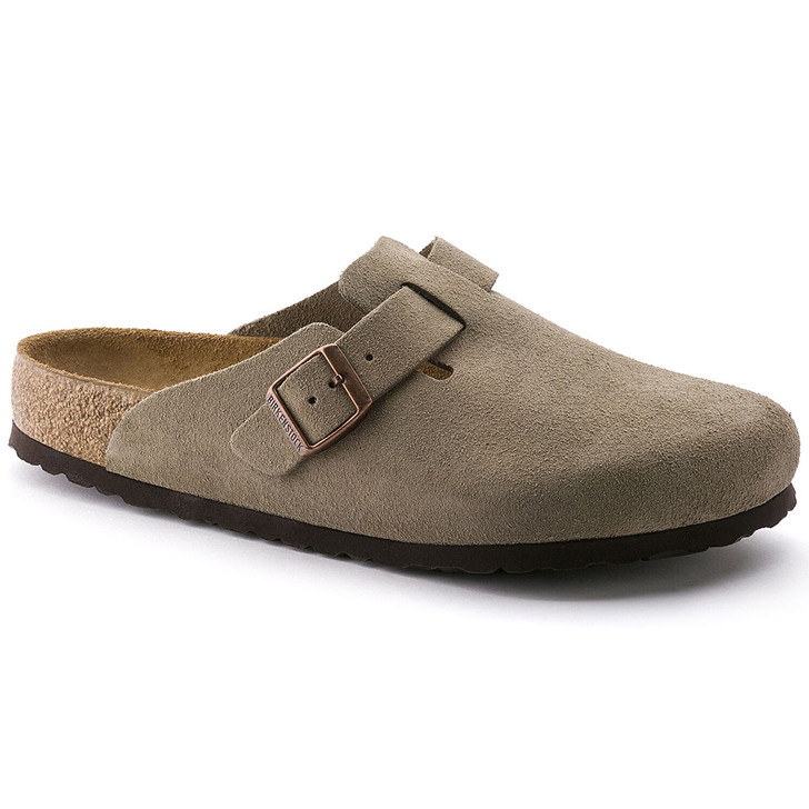 Birkenstock - Boston Clog - Soft Footbed - Taupe Suede