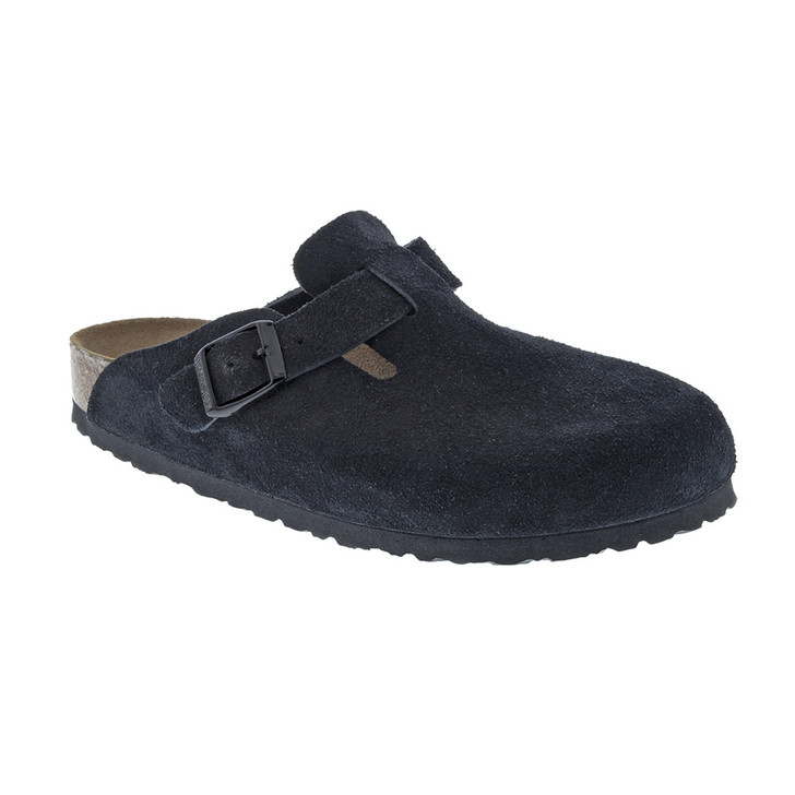 Birkenstock - Boston Clog - Soft Footbed - Black Suede