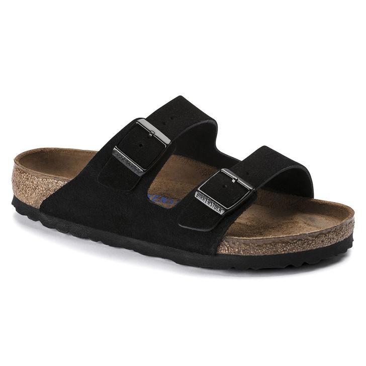 Birkenstock - Arizona Sandal - Soft Footbed - Black Suede