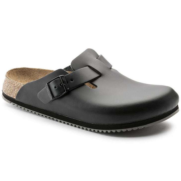 Birkenstock - Boston Super Grip Clog - Black Leather