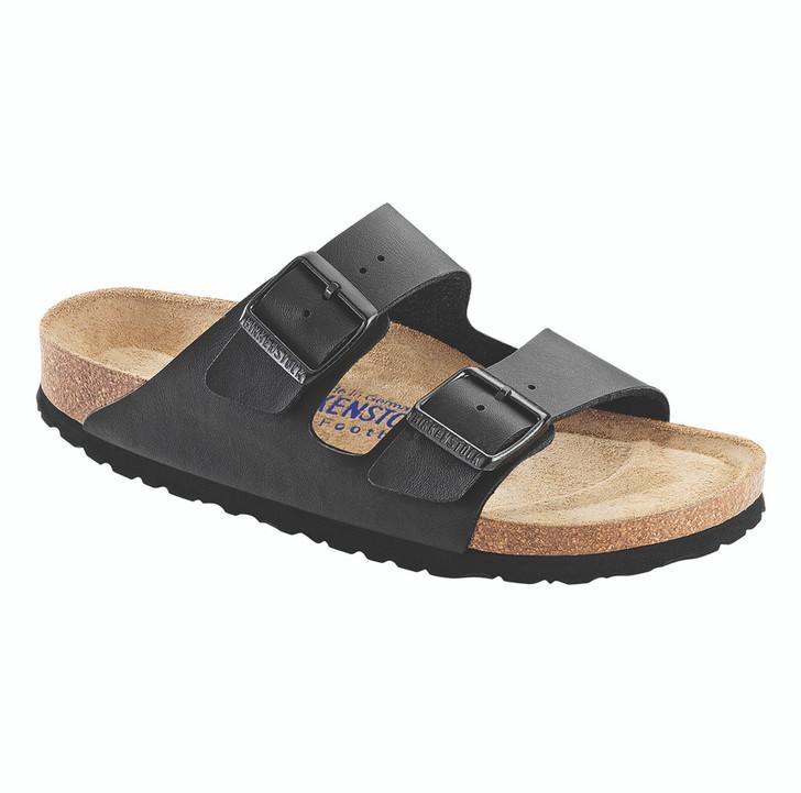 Birkenstock - Arizona Sandal - Soft Footbed - Black Birko Flor