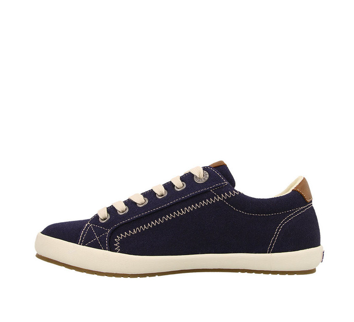 Taos - Star Burst Sneaker Shoe - Navy/Tan Canvas