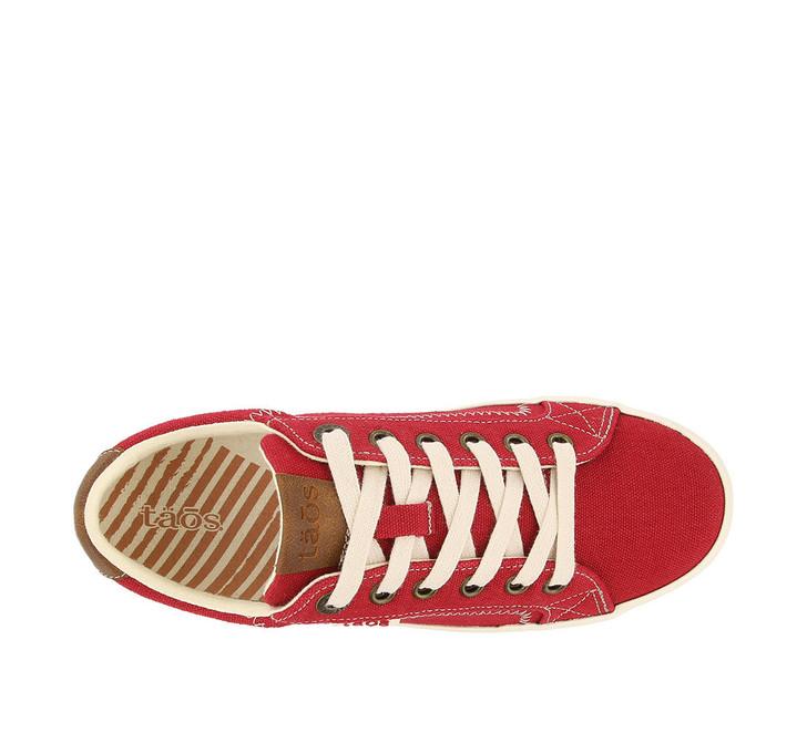 Taos - Star Burst Sneaker Shoe - Red/Tan Canvas