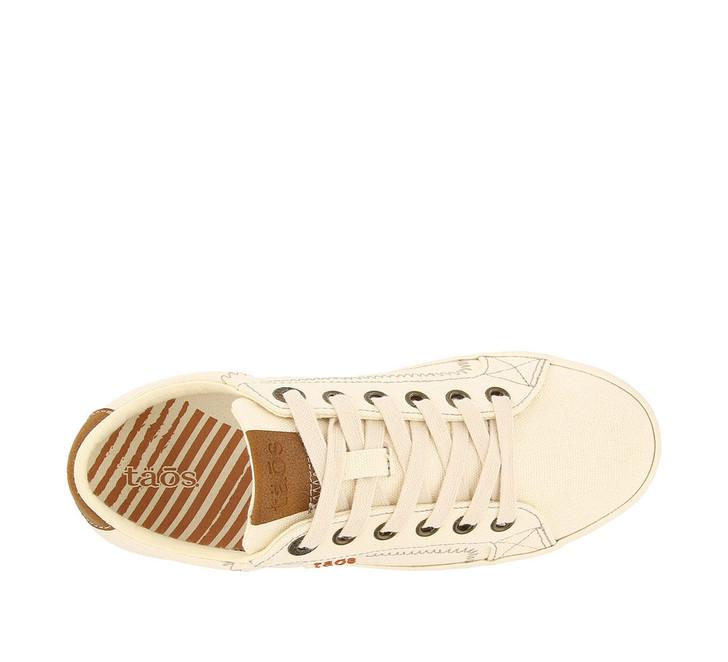 Taos - Star Burst Sneaker Shoe - Beige/Tan Canvas